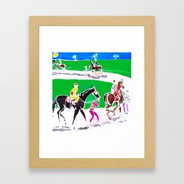 At the Races           by Kay Lipton Framed Art Print