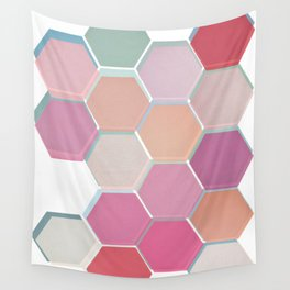 Layered Honeycomb 003 Wall Tapestry