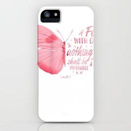 christian breast cancer survivor warrior women mama kids gift zip tee iPhone Case