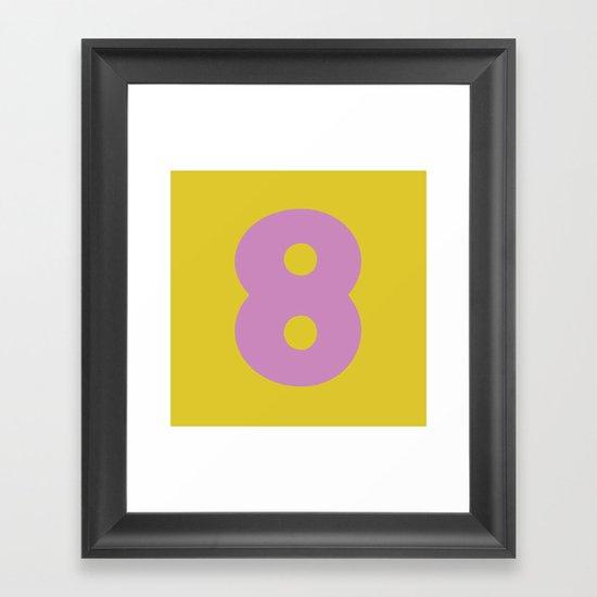 Number 8 Framed Art Print