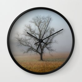 In a Fog - Mystical Morning in the Great Smoky Mountains Wall Clock