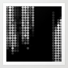 Shades Of Grey Dot Pattern - Rustic Glam Art Print