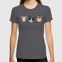 Three wise dogs T-shirt