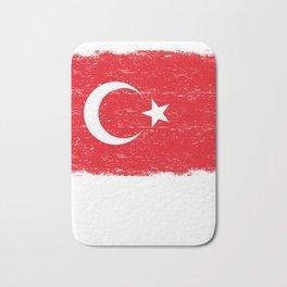 TURKISH FLAG TURKIYE Retro Vintage Turkey Gift Bath Mat