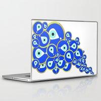 evil eye Laptop & iPad Skins featuring Evil eye by Kanika Mathur Design
