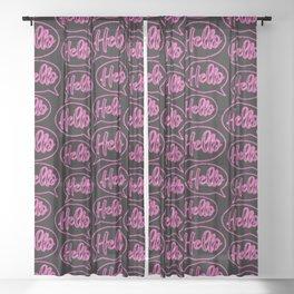 Hello Neon Pattern Sheer Curtain