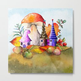 Elf house on the hill Metal Print