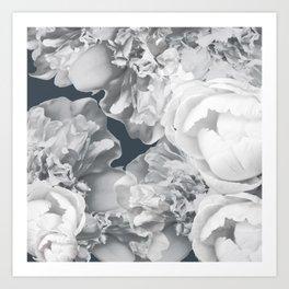 Elegant Peony Bouquet Gray Monochrome #decor #society6 #buyart Art Print