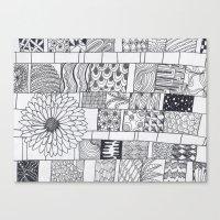 calendar Canvas Prints featuring Bloom Calendar by sinonelineman