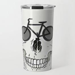 Skullbikery digital art by British artist Peter Gander Travel Mug