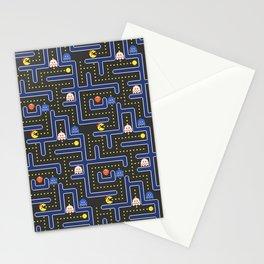 ms pacman maze Stationery Cards