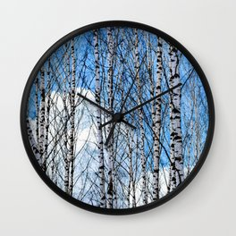Birch Trees. Early Spring Wall Clock