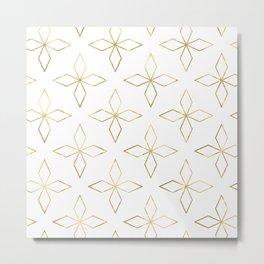 Gold Modern Deco 1 Metal Print