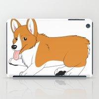 corgi iPad Cases featuring Corgi by Leslie Pierrot