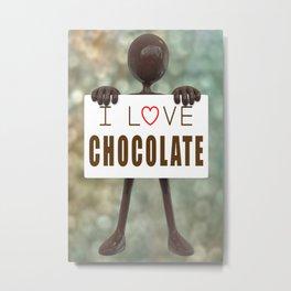 I Love Chocolate - Chocolate Man Artwork Metal Print
