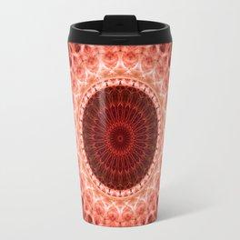 Pastel Red Mandala Travel Mug