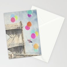 Bright Brooklyn Bridge Balloons Stationery Cards