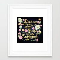 dr seuss Framed Art Prints featuring Dr. Seuss - Don't Cry by Evie Seo