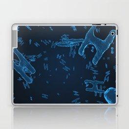 Abstract blue virus cells Laptop & iPad Skin