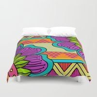 hippy Duvet Covers featuring Hippy tribal by Pooja Jeshang