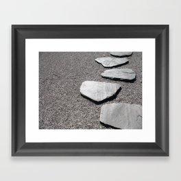 Mindful path Framed Art Print