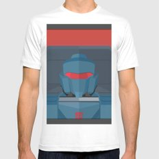 Pipes MTMTE White Mens Fitted Tee MEDIUM