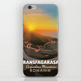 Transfagarasan,Carpathian Mountains, Romania Road poster iPhone Skin