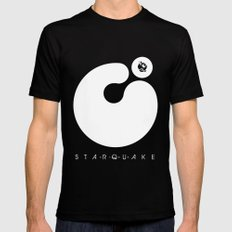 Starquake Mens Fitted Tee Black LARGE