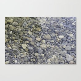River + rocks Canvas Print