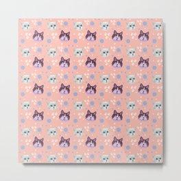 cats, kittens, pattern Metal Print