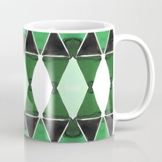 Art Deco Triangles Green Coffee Mug