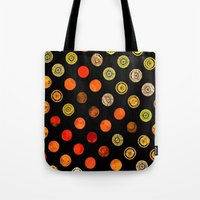 drum Tote Bags featuring Fire Drum by M.D. Becker