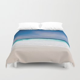 Tropical Turquoise Waves Duvet Cover