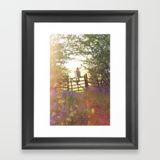 Bluebell woods Framed Art Print