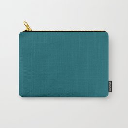 Clear Day Ocean Blue Solid Colour Palette Matte Carry-All Pouch