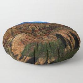 South Dakota Badlands Tall peaks Floor Pillow