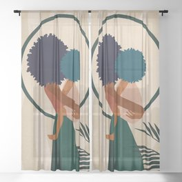 Stay Home No. 3 Sheer Curtain