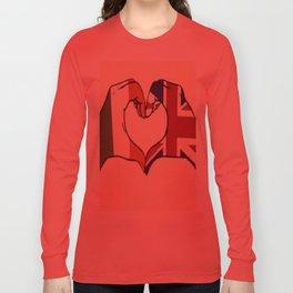 One Direction Inspired UK/Irish Love Heart Long Sleeve T-shirt