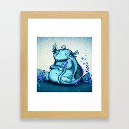 blue monster Framed Art Print
