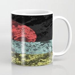 Sunset Beach - Abstract, marble effect, geometric painting Coffee Mug