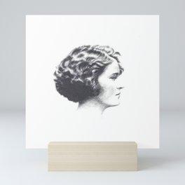A portrait of Zelda Fitzgerald Mini Art Print