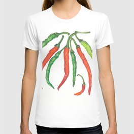 Watercolor Hot Peppers T-shirt