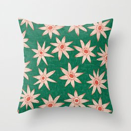 sema palm fire orange Throw Pillow