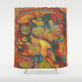 There's Order in Chaos: Marbleizing Shower Curtain
