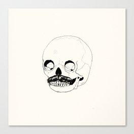 Moustatche Skull Canvas Print
