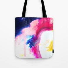 Happiness Talks Abstract Watercolor Painting Tote Bag