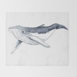 Baby humpback whale (Megaptera novaeangliae) Throw Blanket
