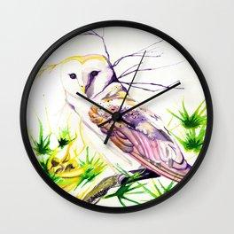 Owl Furze Wisdom  Wall Clock
