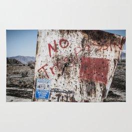 No Trespassin' in the Desert Rug