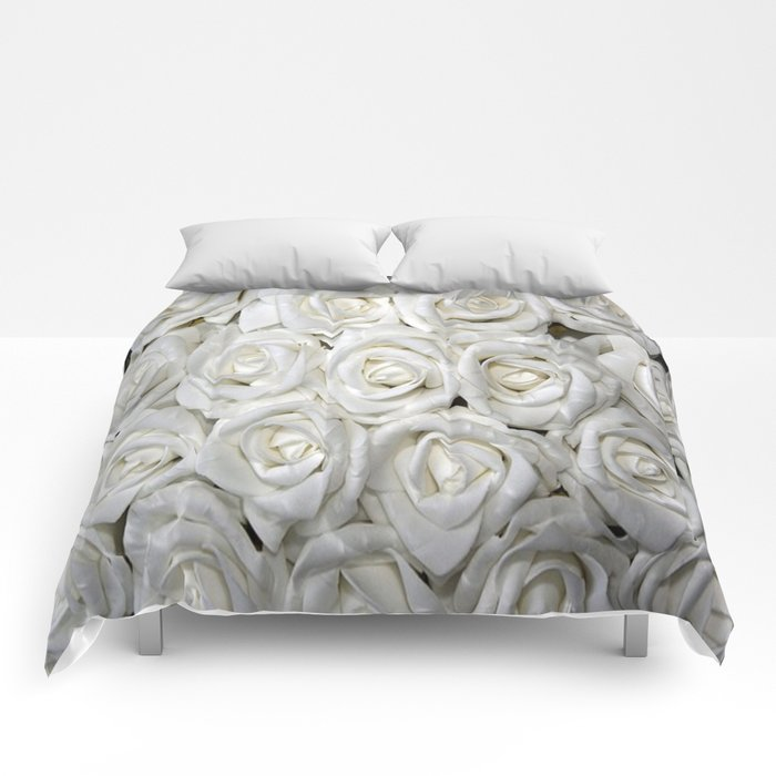 White Rose Buds Comforters